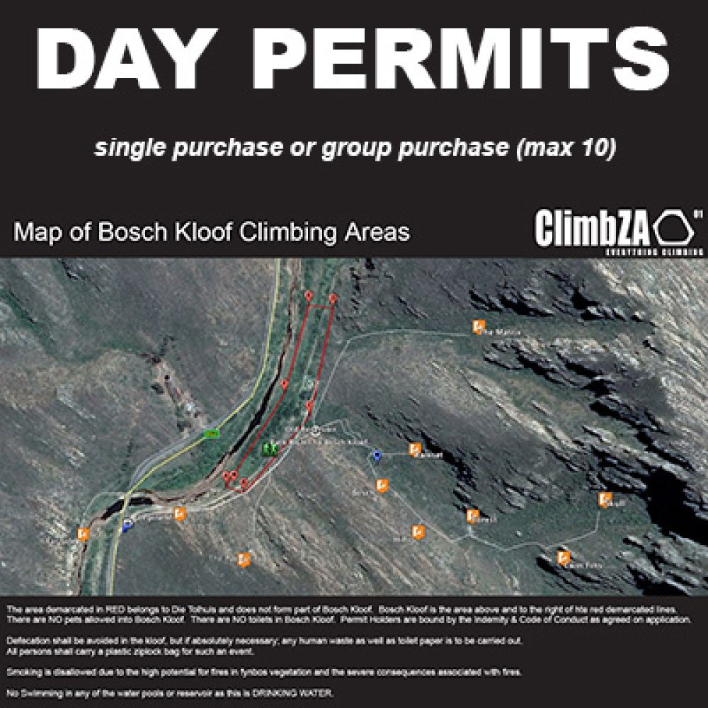 Bosch Kloof Day Permit